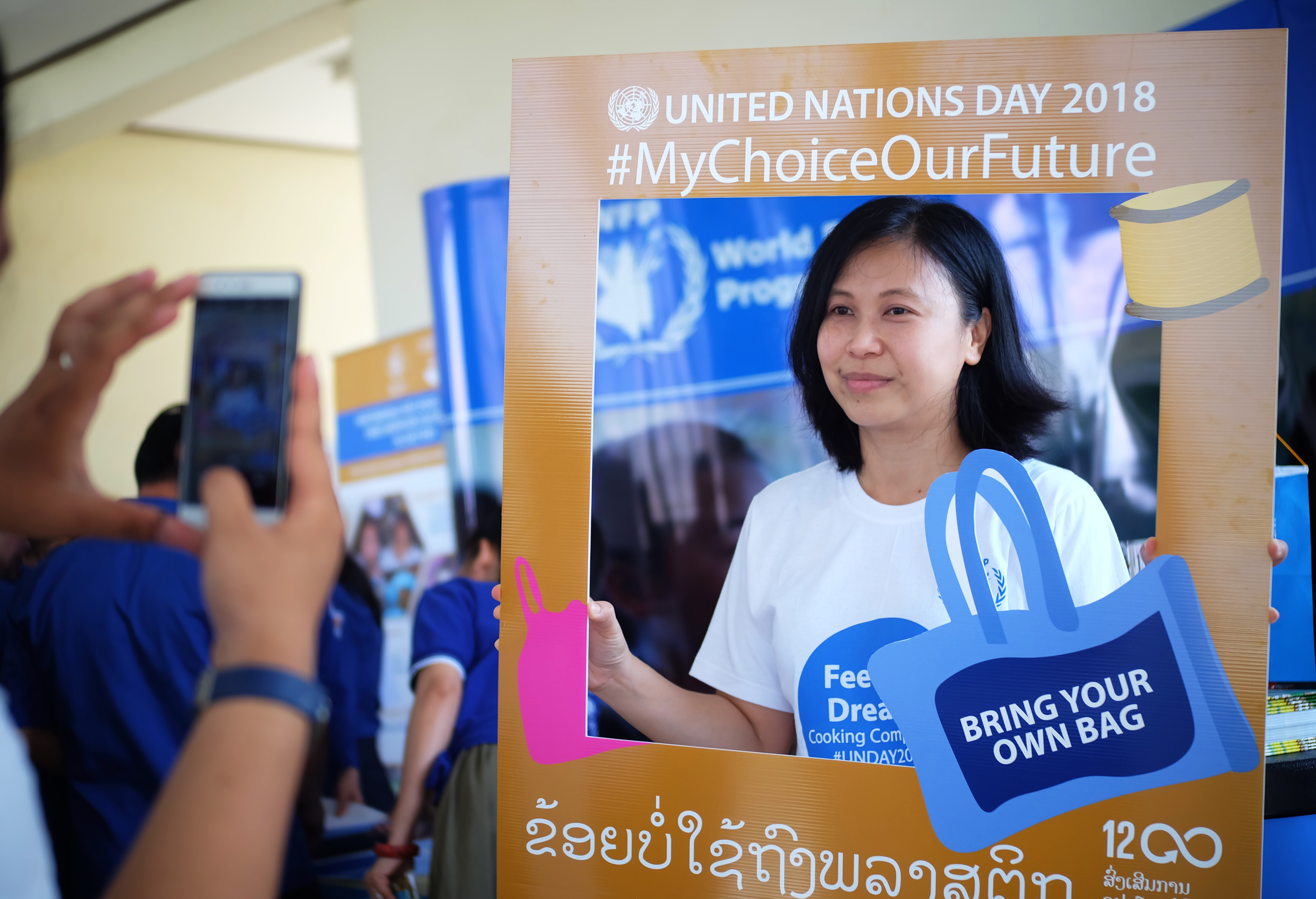 """""""I am going to use less plastic and ride my bicycle more in the future. I will also tell all my friends about how important it is for everyone to try to save the planet"""", says Sutthida Luanglath from Saysettha High School."""
