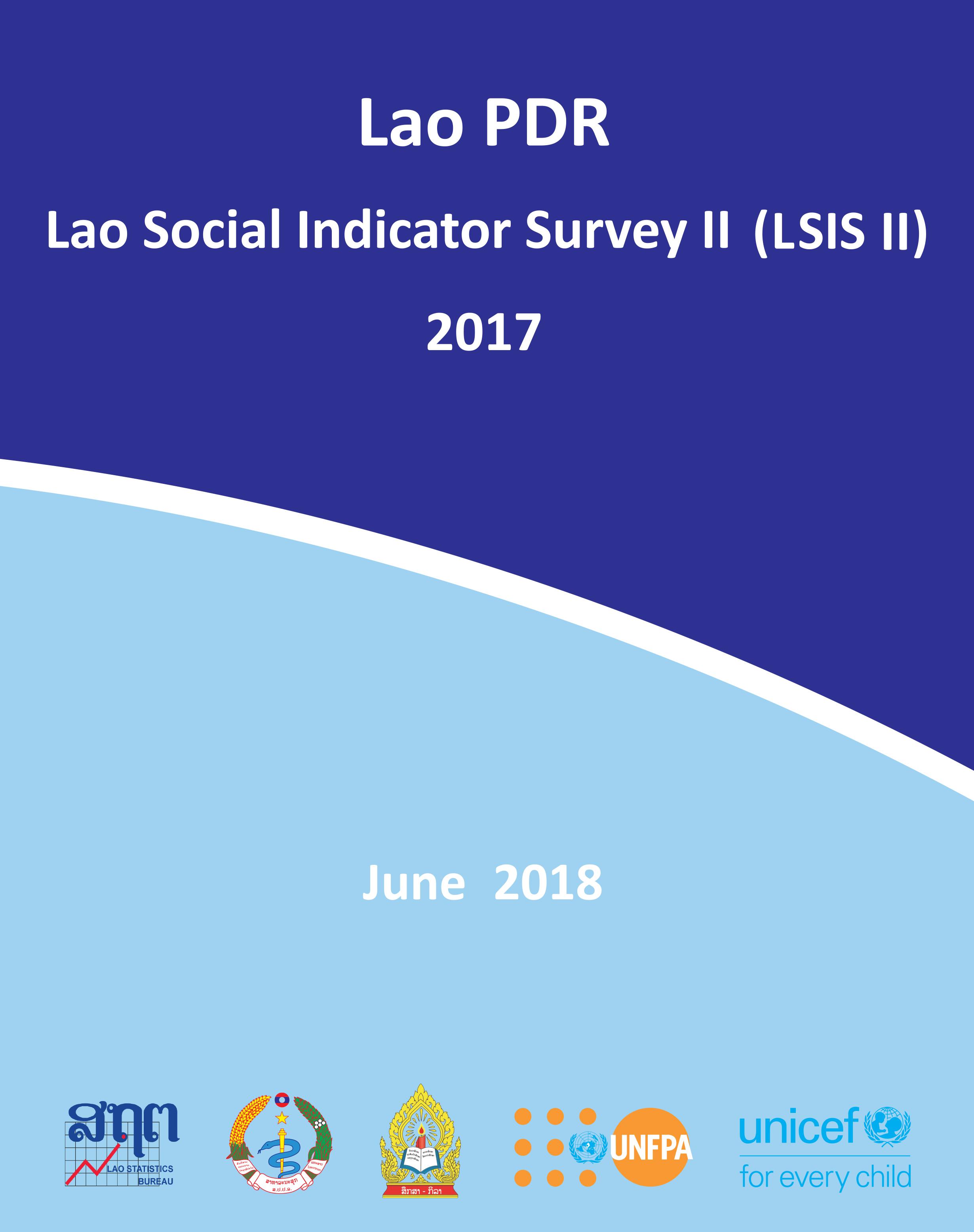 2017 MICS Social Indicator Survey II Survey - Cover
