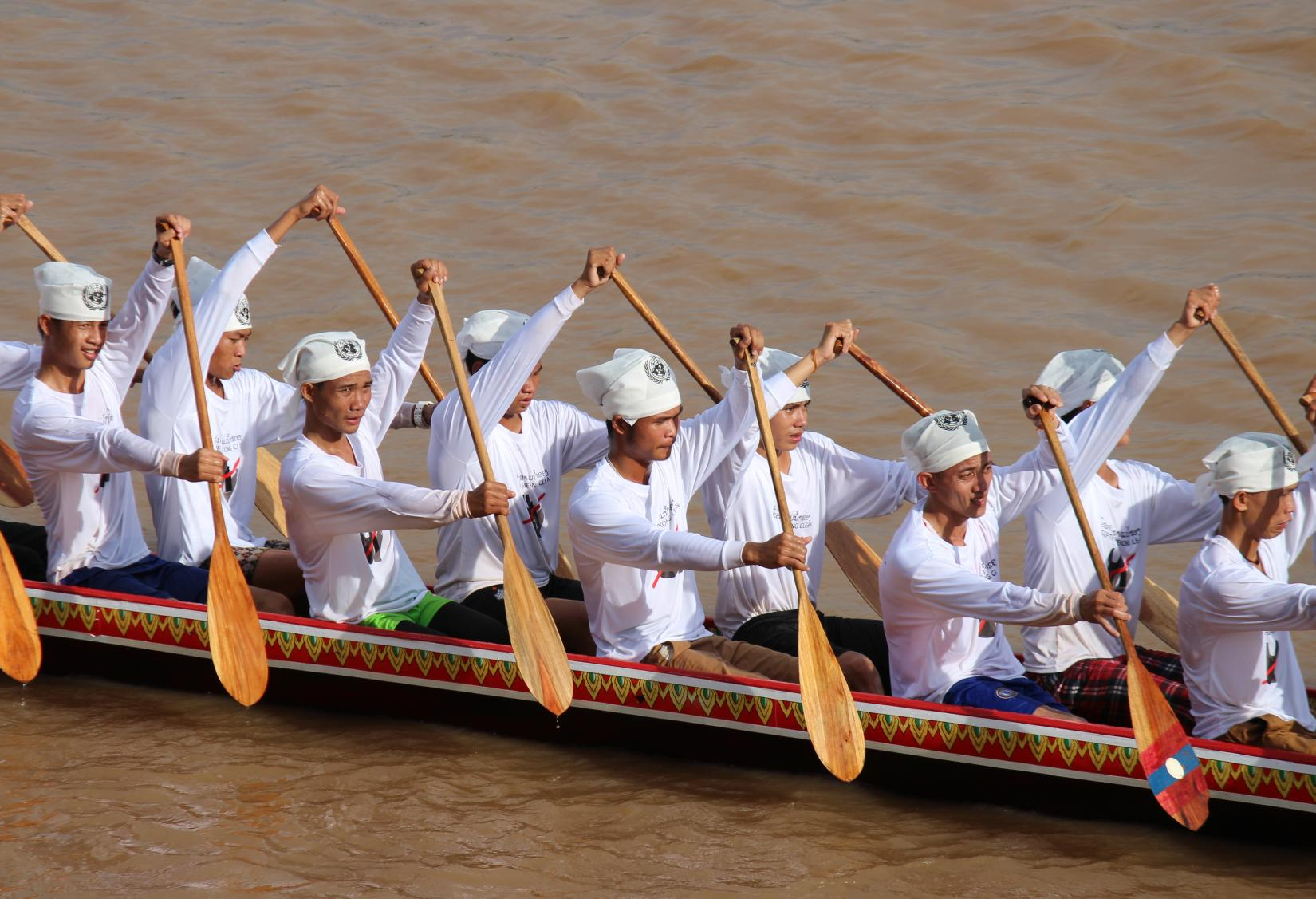 The UN-supported boat racing team in Lao PDR on a crusade against single-use plastics.